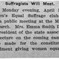 Page 134 : Suffragists Will Meet