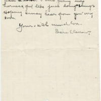 Letter from Sara Callow to Emma Smith DeVoe, 3/15/1908, page 3
