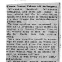 Page 106 : Women Census Takers Aid Suffragists