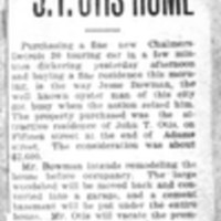 Page 045 : Bowman Buys Auto And Fine J.T. Otis Home