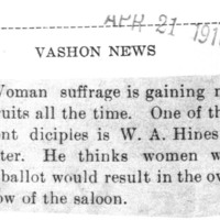 Page 093 : [Suffragist W.A. Hines thinks Women Would Overthrow Saloons]