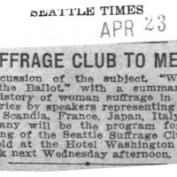 Page 099 : Suffrage Club to Meet