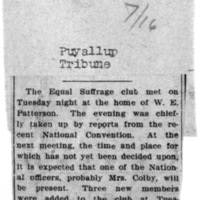 Page 110 : [news clipping: Puyallup Club Meets]