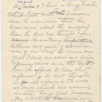 Letter from S.K. to Emma Smith DeVoe,[ 2/?/1909], page 1