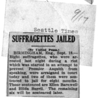 Page 166 : Suffragettes Jailed