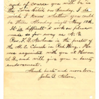 Letter from Julia Nelson to Emma Smith DeVoe, 4/26/1895, page 2