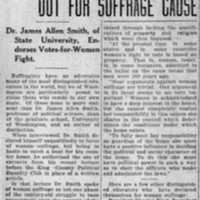 Page 033 : College Professor Comes Out For Suffrage Cause: Dr. James Allen Smith, of State University, Endorses Votes-for-Women Fight