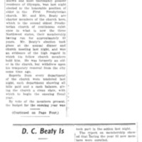 Page 114 : D.C. Beaty Is Honored by Church