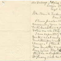 Letter from Rachel Andrews to Ellen Leckenby, 9/28/1910, page 1