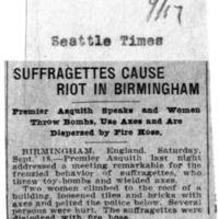 Page 166 : Suffrafettes Cause Riot in Birmingham