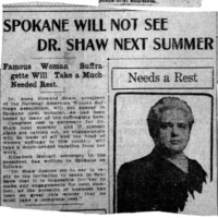 Page 095 : Spokane Will Not See Dr. Shaw Next Summer