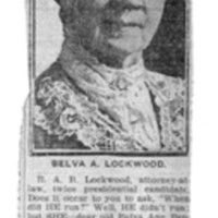 Page 167 : Do you Remember  Belva Lockwood?