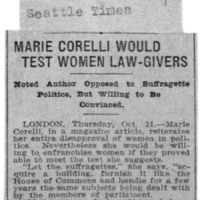 Page 028 : Marie Corelli Would Test Women Law-Givers