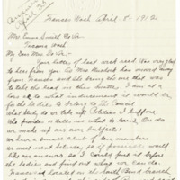 Letter from Amelia Handy to Emma Smith DeVoe, 4/8/1912, page 1