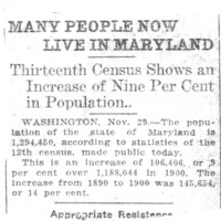 Page 111 : Many People Now Live In Maryland