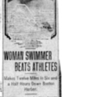 Page 007 : Woman Swimmer Beats Athletes