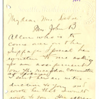 Letter from Adella Parker to Emma Smith DeVoe, 6/25/1909, page 1