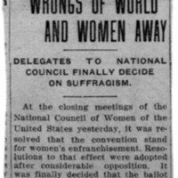 Page 113 : Women Would Vote Wrongs of World and Women Weary