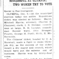 Page 044 : Wet Republican Ticket Successful At Olympia : Two Women Try To Vote