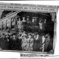 Page 149 : Chicago Woman Suffragists About to Start for the State Capital
