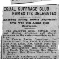 Page 014 : Equal Suffrage Club Names Its Delegates