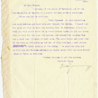 Letter from Linda Jennings to 'My Dear Friend', 11/9/1910, page 1