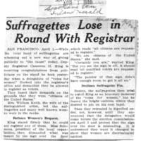 Page 035 : Suffragettes Lose in Round With Registrar