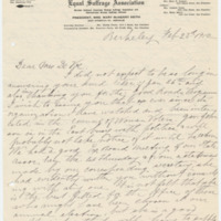 Letter from Mary Keith to Emma Smith DeVoe, 2/23/1912, page 1