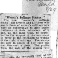 """Page 159 : """"Woman's Suffrage Stamps"""""""