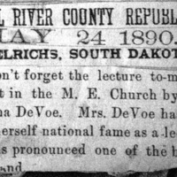 Page 34 : [news clipping: Emma Smith DeVoe in Ulrichs]