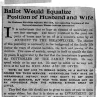 Page 170 : Ballot Would Equalize Position of Husband and Wife