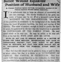 Page 143 : Ballot Would Equalize Position of Husband and Wife