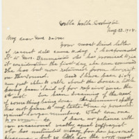 Letter from Luci Isaacs to Emma Smith DeVoe, 8/23/1908, page 1