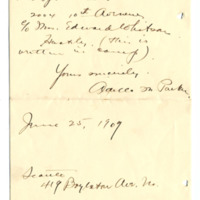 Letter from Adella Parker to Emma Smith DeVoe, 6/25/1909, page 2