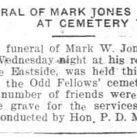 Page 120 : Funeral Of Mark Jones At Cemetary Today