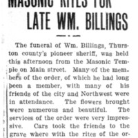 Page 119 : Masonic Rites For Late Wm. Billings