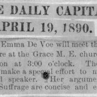 Page 30 : [news clipping: Emma Smith DeVoe at M.E. Church]