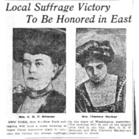 Page 055 : Local Suffrage Victory To Be Honored In East