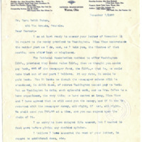 Letter from Harriet Upton to Cora Smith Eaton, 12/7/1907, page 1