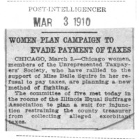 Page 007 : Women Plan Campaign to Evade Payment of Taxes