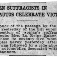 Page 106 : Women Suffragists in Autos Celebrate Victory
