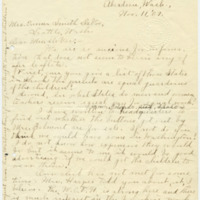 Letter from Ida A. Allen to Emma Smith DeVoe, 11/11/1909, page 1