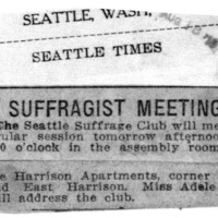 Page 111 : Suffragist Meeting