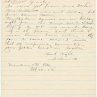 Letter from LaReine Baker to unknown recipient, 10/26/1908, page 2