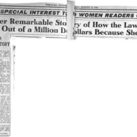 Page 107 : Here's Another Remarkable Story of How the Law Robbed Woman Out of a Million Dollars Because  She Couldn't Vote