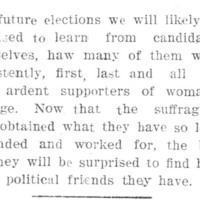 Page 038 : [Candidates supporters of woman's rights]