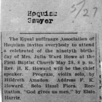 Page 177 : [news clipping: Howe Birthday Celebrated]
