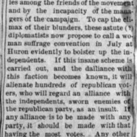 Page 47 : [Suffragists bolster Independents]