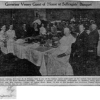 Page 139 : Governor Vessey Guest of Honor at Suffragists' Banquet