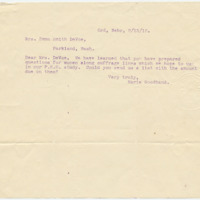 Letter from Marie Goodhand to Emma Smith DeVoe, 8/13/1912